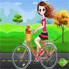 فتاة الدراجة الهوائية