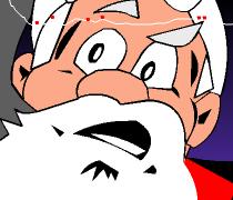 بابا نويل يوزع الهدايا