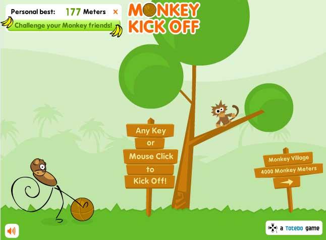القرد لاعب الكرة